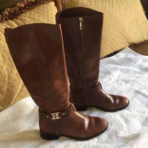 Tory Burch Brown Leather Boots